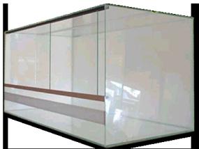 Glasterrarium mit Belüftung